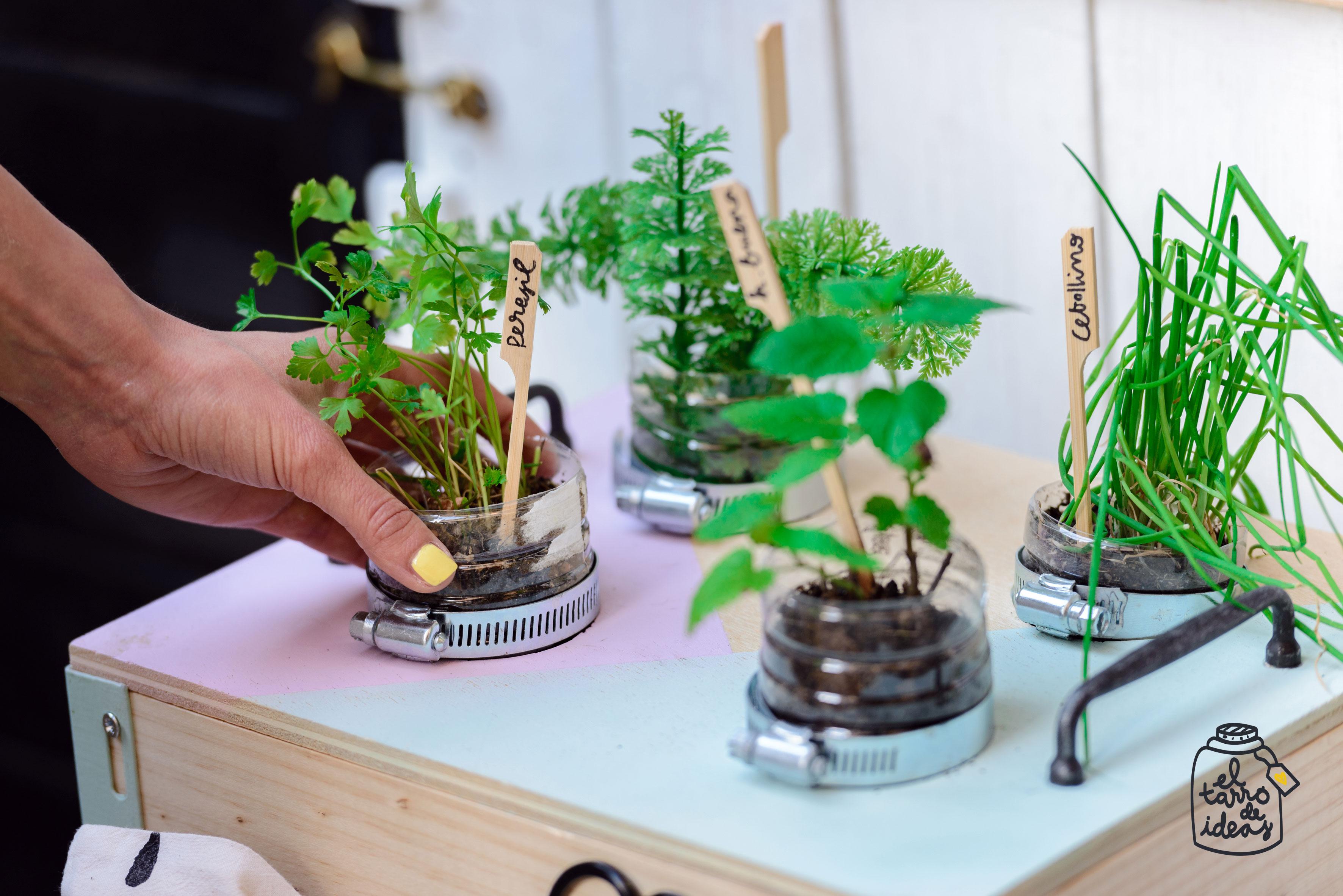 huerto, platas, cocina, verano, decoracion, el tarro de ideas, reciclar, madera, plantas aromáticas, recetas