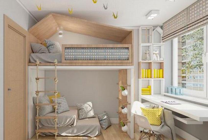 habitacion, infantil, kids, niños, litera, interiorismo, hogar, ideas, deco