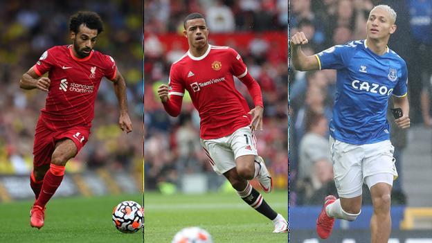 Mohamed Salah (Liverpool), Mason Greenwood (Manchester United), Richarlison (Everton)