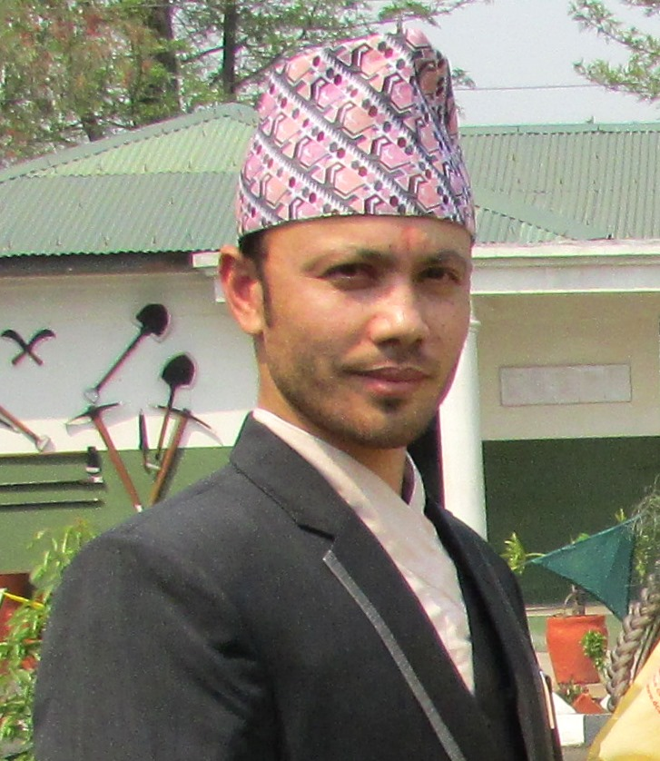 Jeevan Karki the Editor of the issue