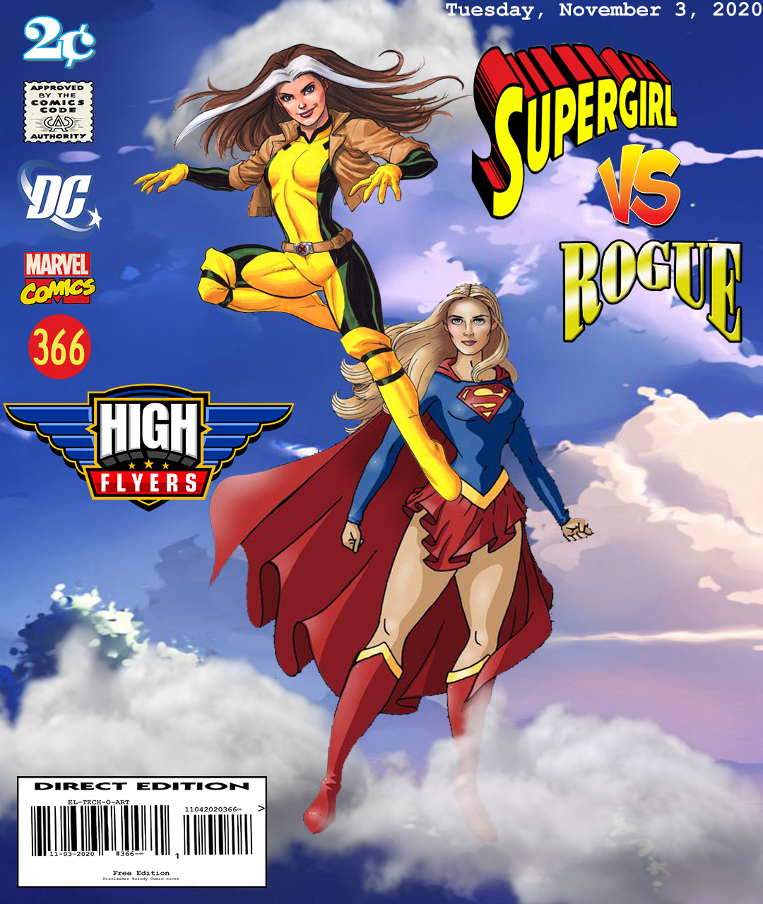 Fan Photoshop Edit Comic Cover Of Supergirl and Rogue
