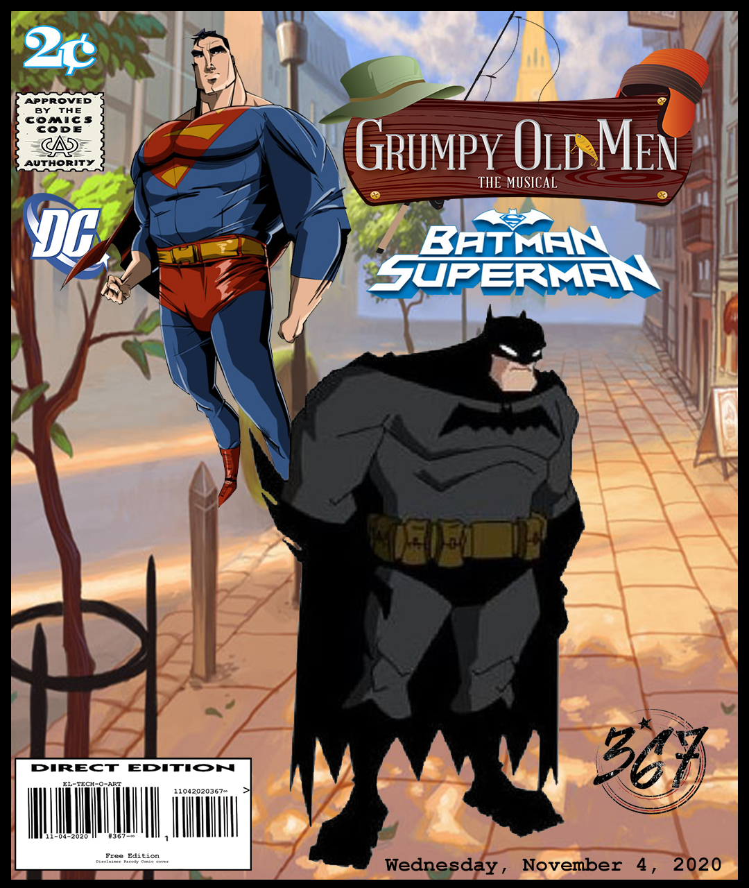 Fan Photoshop Edit Comic Cover Of old Superman and Batman
