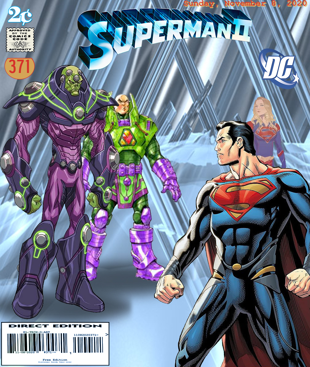 Fan Photoshop Edit Comic Cover Of Superman, Lex Luthor, Brainiac & Supergirl