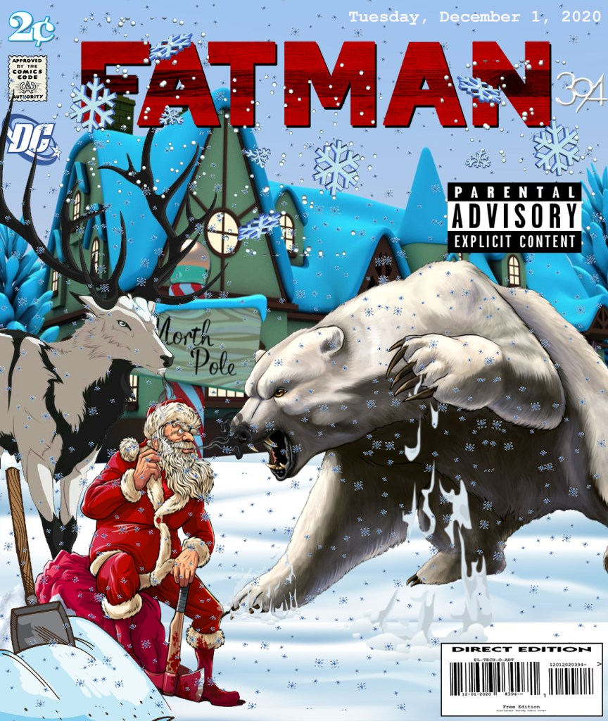 Fan Photoshop Edit Comic Cover Of Santa!!