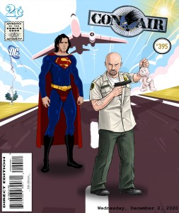 Fan Photoshop Edit Comic Cover Of Conair and Nicolas Cage as the Superman