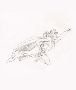 Vintage Supergirl Sketch