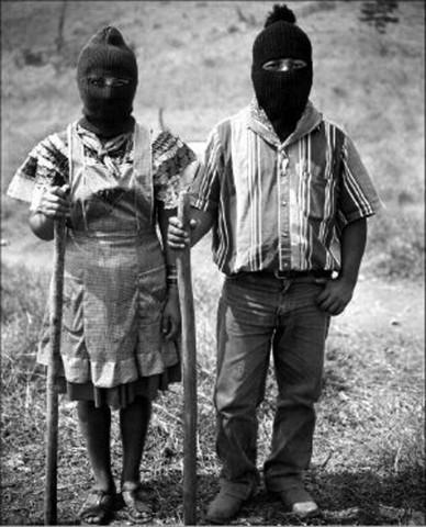 Archive photo of Zapatistas. Photo Courtesy Caleb Duarte