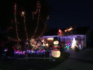 Weihnachtsdeko bei unseren Nachbarn