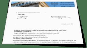 Petition zur Sicherung des musischen Zweiges an bayerischen Gymnasien in der Fläche
