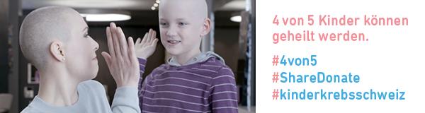 Kinderkrebs, Hilfe, 4von5, geheilt, Kinder, Solidaritätskampagne, Kinderkrebshilfe Schweiz