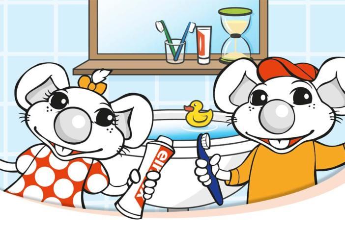 Baby Kinder Kids Zahnbürste Lernzahnbürste Zähneputzen Elmex Elmy Mexi