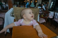 ...aber meine Eva ist die Süßste - hier im Cafe Batavia