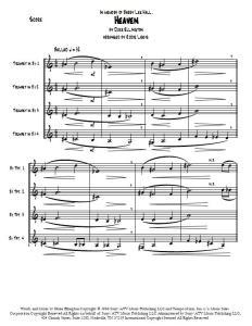 Heaven by Duke Ellington score sample