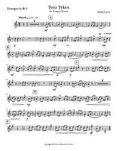 Tyro Tykes Easy Trumpet Quartet Sample Part