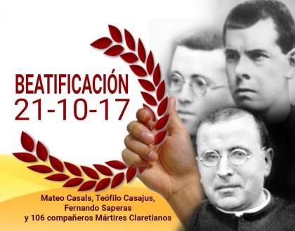 Misa de Acción de Gracias por la Beatificación de 109 mártires claretianos