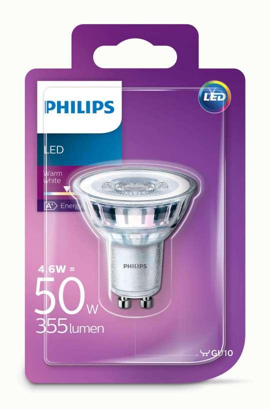 PHILIPS 4.6W GU10 220V 36 355lm 2700K GLASS CLASSIC CORE PRO LED sijalica - 00106 67 000