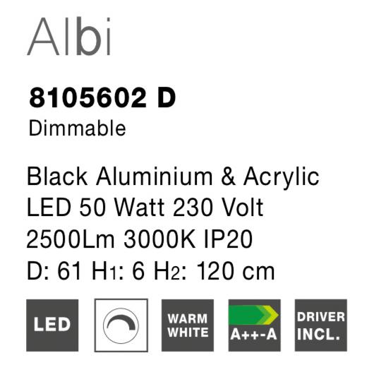 NOVA LUCE ALBI luster - 8105602D - 4