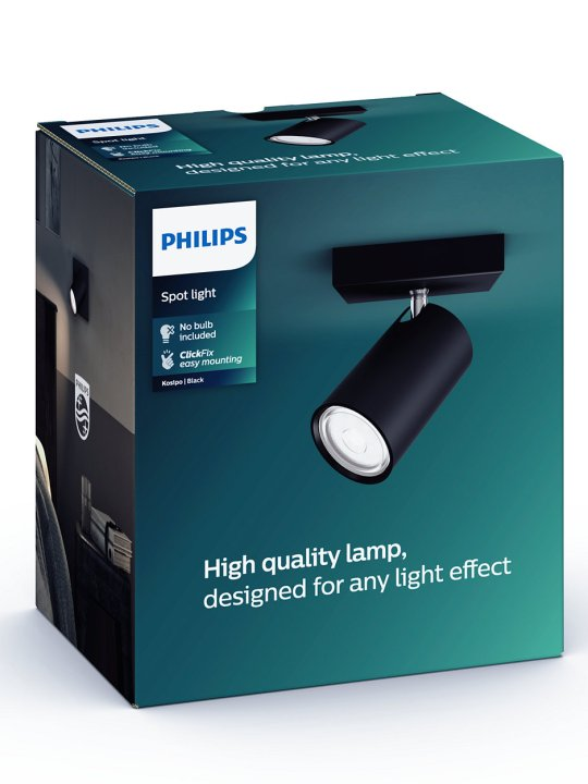PHILIPS KOSIPO 1xGU10 CRNA spot lampa - 5059130PN - 3