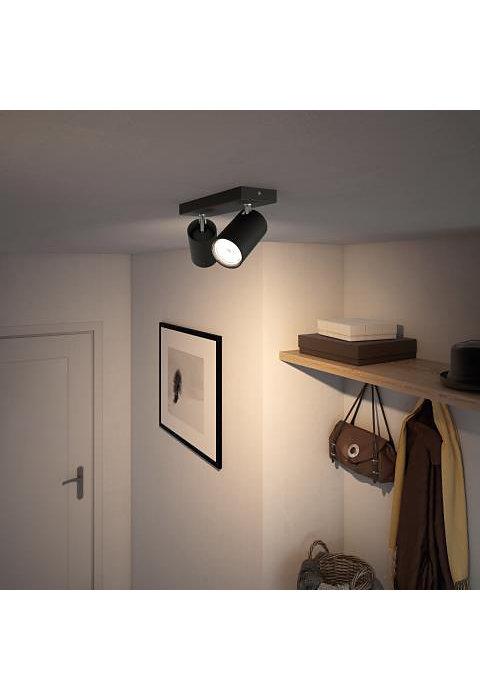 PHILIPS KOSIPO 2xGU10 CRNA spot lampa - 5059230PN - 4