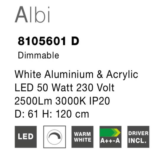 NOVA LUCE ALBI luster - 8105601D - 2