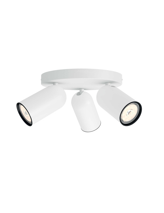 PHILIPS PONGEE 3xGU10 BELA spot lampa - 5058331PN - 1