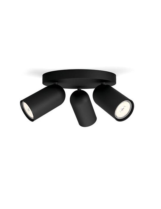 PHILIPS PONGEE 3xGU10 CRNA spot lampa - 5058330PN - 1