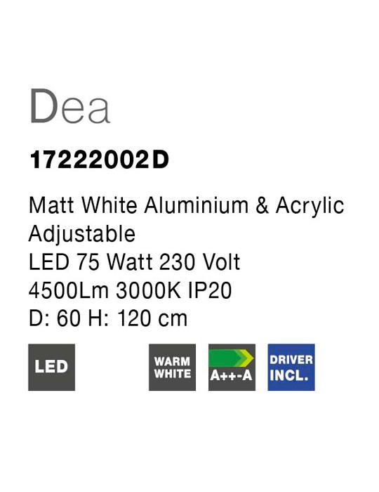 NOVA LUCE DEA luster - 17222002 D - 4