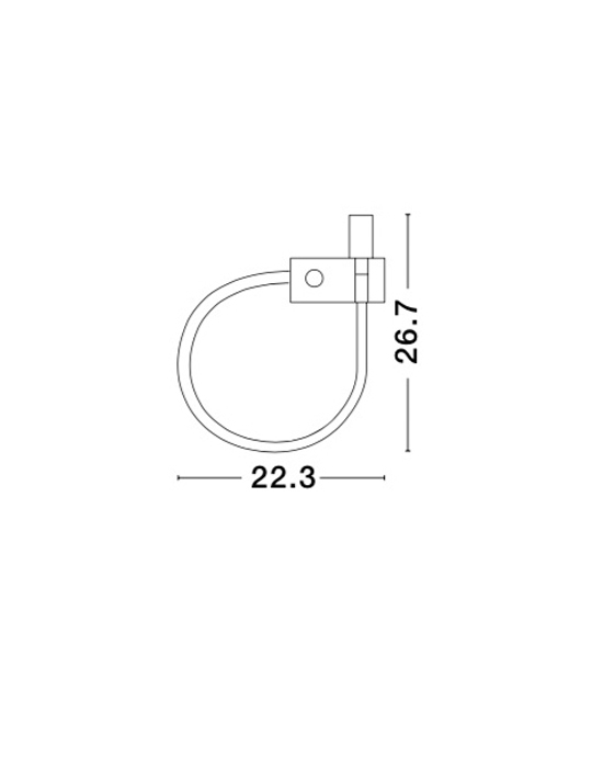NOVA LUCE GENEVA zidna lampa - 8126581 - 2