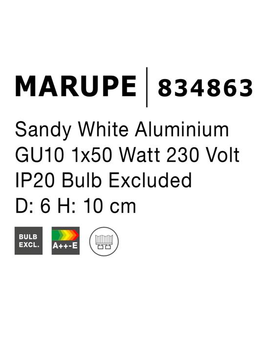 NOVA LUCE MARUPE spot lampa - 834863 - 4