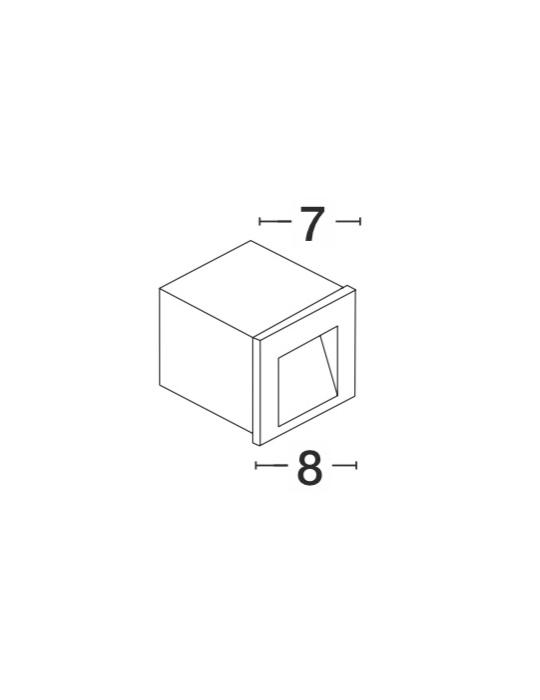 NOVA LUCE KRYPTON spoljna ugradna zidna lampa - 727001