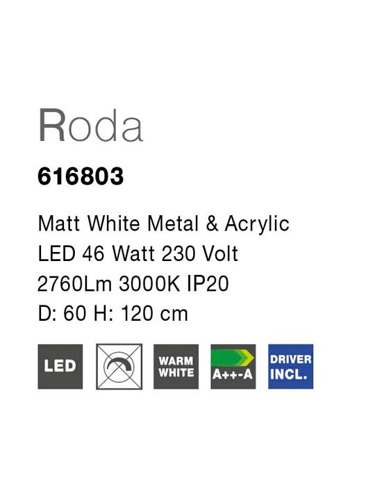NOVA LUCE RODA luster - 616803