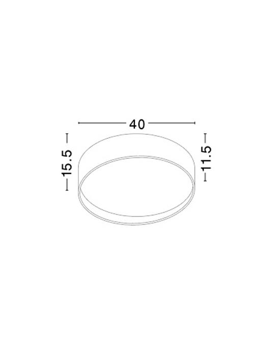 NOVA LUCE FANO plafonjera - 71045001