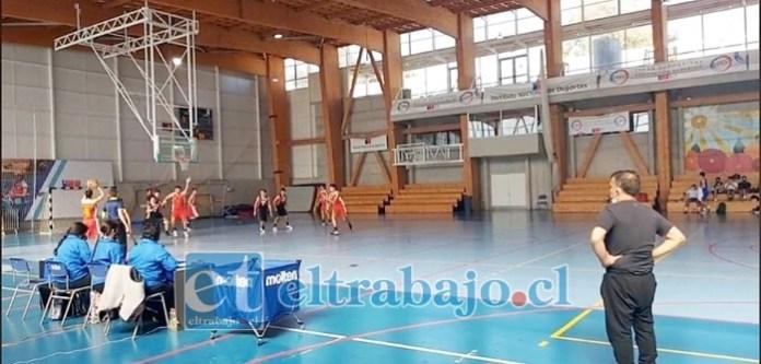 El lunes pasado la selección aconcagüina se impuso a Marga Marga en el Polideportivo Renato Raggio en Valparaíso.