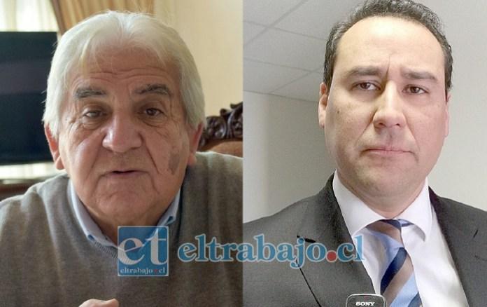 Presidente de la Junta de vecinos Los Dominicos, Luis Calderón Carvajal (izquierda). Fiscal Eduardo Fajardo De la Cuba, informó brevemente sobre la Indagatoria en proceso, y desmintió que haya nuevas muertes de las víctimas heridas.