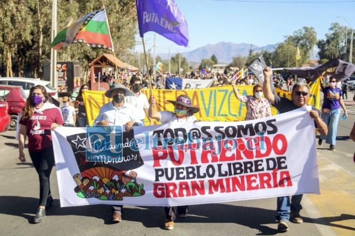 PUTAENDO SIN MINERAS.- Una vez más el rechazo a la Gran Minería fue masivo y categórico por parte de la comunidad.