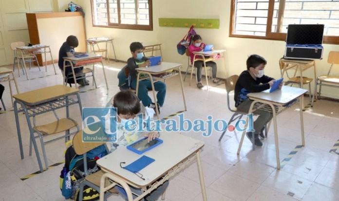 Pese al cambio de fase Panquehue mantiene la apertura de escuelas, con asistencia voluntaria, medida que se evaluará esta semana según sea la asistencia.