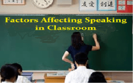 factors affect speaking in EFLclasses