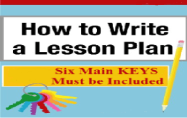 main elements to include in a lesson plan