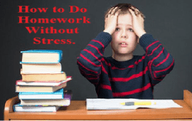 tips for students to do homework without stress