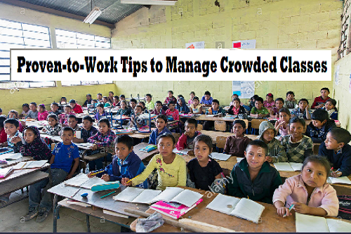 tips to manage large classes