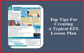 tips for creating a typical EFL lesson plan