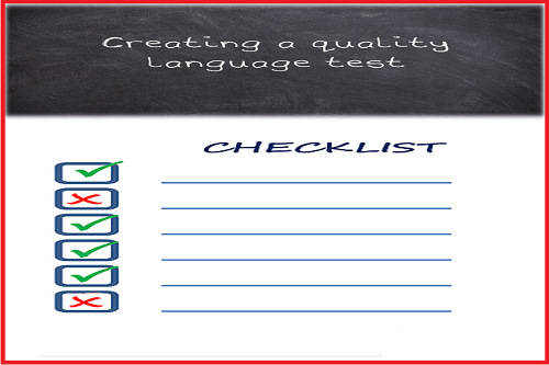 checklist for creating quality language test