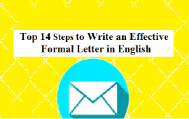 steps to write effective formal letter in English