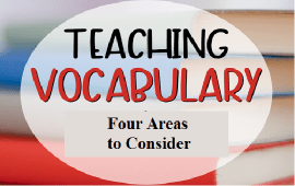 four areas to consider when teaching vocabulary