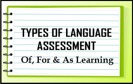 assessment of, for and as learning