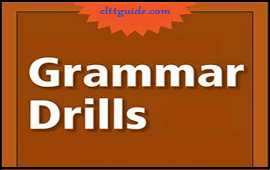 kinds of grammar drills