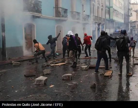 protestas en Quito 02/10/2019