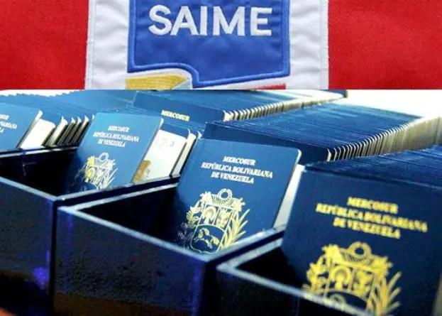 SAIME aumenta de nuevo tasas de pasaportes en menos de tres días