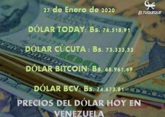 Precio del dólar hoy 27/01/2020 en Venezuela
