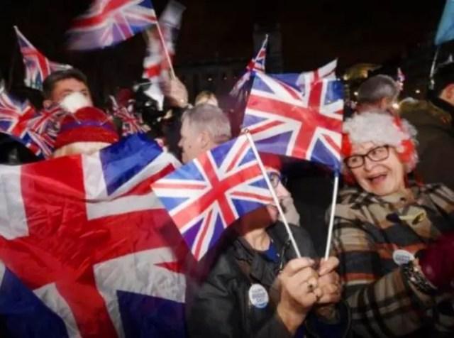 Reino Unido materializó su Brexit / celebración